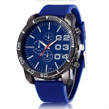 2015 newest big dial watches , men silicone watches wholesale cheap watches