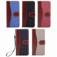 Fashion Jeans leather case , PC leather cove for ipod touch 6, double color lather case for itouch