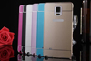 Fashion 5.7Inch Mobile Phone Acrylic Back Cover Metal Frame Protector Case For SAMSUNG GALAXY NOTE 4 N9100 N9180V N9109W