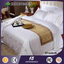 100% 40s cotone di colore solido set di biancheria da letto di lusso da sposa
