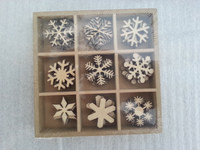 2015 new design Christmas Present wooden stamps snow