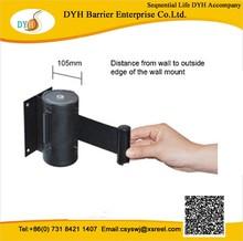 aisles, hallways extra Long Belt Barriersretractable wall mount stanchion belts