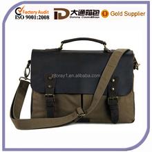 2015 Stylish Messenger Bag High Quality Mens Leather Canvas Messenger Shoulder Travel Bag Men