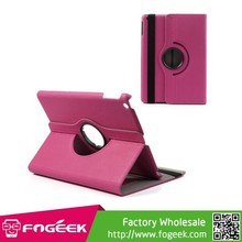 Fast Shipping Rose 360 Degree Rotating Cloth Smart Flip Leather Protective Case for iPad Air