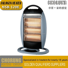 1200W Portable &Oscillating Rotating Electric Halogen Heater