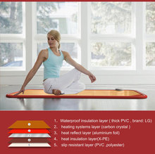 Most reliable and secure pvc gym yogo mat with smart temperature controller
