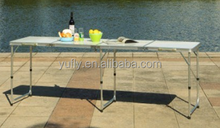 Camping table Garden table Patio table party table 3 folded long table Alum. Folding picnic table