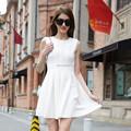 Hjl-c1058 Veri Gude verano mujer el nuevo slim fit moda vestido plisado sin mangas