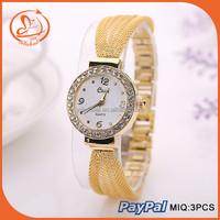 China Watches Manufactures Luxury Vogue Slim Chain Stainless Steel Case Back Watch Popular in Western Custom Design Wristwatch