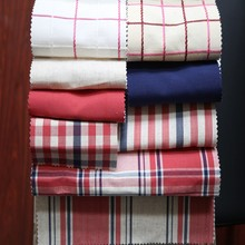 Graceful beauty plaid cotton yarn dyed hotel curtains in Germany