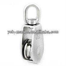 Stainless steel swivel single sheave pulley