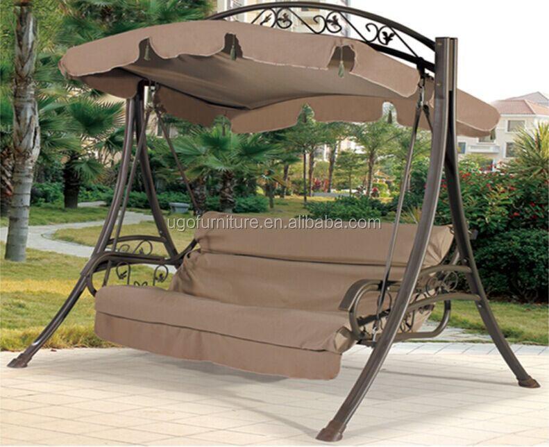 moderne jardin swing de fer chaise avec coussin couples balancelle vendre outils de jardin id. Black Bedroom Furniture Sets. Home Design Ideas