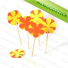Various Sizes Wooden Cocktail Party Decorative Picks for Food