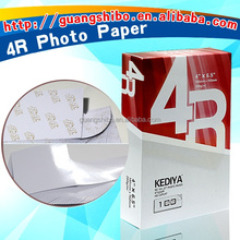 hot sell 100% wood high glossy photo paper 4R cheap price factory supply