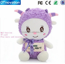 Factory wholesale embedded dowload free mp3 song player plush toy