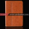 For ipad mini real leather case smart cover case