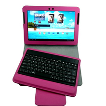 Wireless keyboard leather cover case for samsung galaxy tab2 /10.1 P7500 P7510