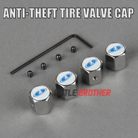 4pcs/set OEM Emblem Anti-theft Metal zinc alloy Tire Valve Stem Cap