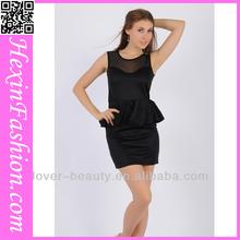 las mujeres al por mayor de gasa elegante vestido casual