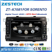 Zestech media player for kia sorento 2010 2011 2012 car gps navigation hot selling