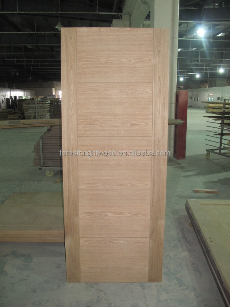 Simple design solid wood interior door flush room door for Simple room door design