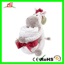 E266 Shenzhen Factory Baby Plush Toy and Blanket Zebra Plush Toy Manufacturer