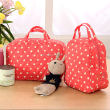 Wholesale fashion cotton fabric baby carry diaper bag