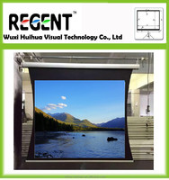 150inch 16:9 Tab-tension Projection Screen/Remote Controlled Scientific Research/ Home Theatre Equipment