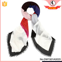 90% Modal 10% Cashmere Heart Love Printing Scarf DW1501A0025