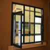 Tempered glass powder coated aluminium windows for home high quality