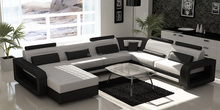 Fashion style new indoor sitting room furniture thick leather sofa 105A