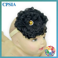 Hot ! Baby Girls Kids Lovely Pony Pearls Hair Bands Vintage Flowers Hair Accessories Pretty Headbands Infant Headbands