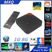 Original MXQ S805 TV Box With Bluetooth MX Amlogic S805 Quad Core Android 4.4 Kitkat 4K 1GB/8GB Kodi14.2 WIFI Airplay Miracast