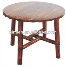de calidad aaa tearoom pequeña mesa de madera mesa de comedor redonda