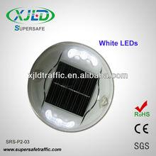 6 LEDs Round plastic LED Solar powered Road Marker