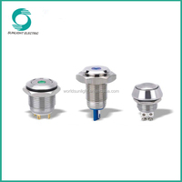 16mm 2a new high flat best price ring illuminated momentary micro push button switch