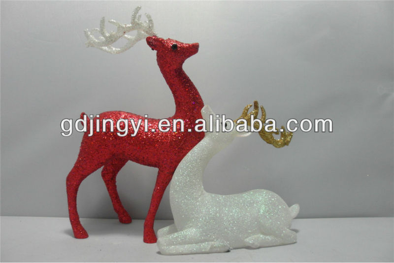 Promoational acrylic outdoor christmas reindeer figurines for Outdoor christmas figures