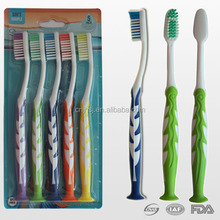 5 pcs wholesale toothbrush value pack, adult toothbrush