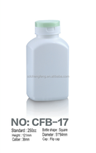80cc PE plastic bottle,blowing technology,white color,with printing symbol