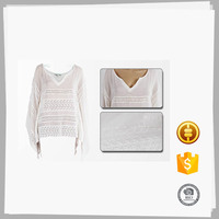 New style Soft Elegant model simple big collar blouse