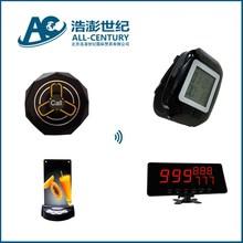 restaurant number display,guest call waiter to order foods,wireless transmitter caller