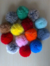 rabbit fur pompon/rabbit fur ball/pom pom fur balls