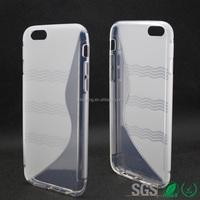 tpu case for iphone 6 sline phone case transparent color