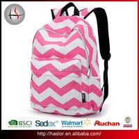 Latest stylish cheap polyester sublimation backpack bag