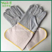 Palm thick long or short heat resistant leather welding working glove