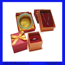 Popular factory price red color pandora jewelry paper gift box with foam inside