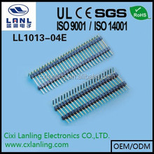 1.0mm Double Row Pin Header 180 degree Single row pin header R/A right angle board spaces Plastic height=1.0/1.5