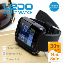 LEDO Cheapest bluetooth smart watch with touch screen watch mobile phone
