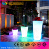 led flower pot solar lighted planters rechargeable led flowerpot for party garden