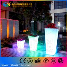 led flower pot solar lighted planters rechargeable led flowerpot for party garden